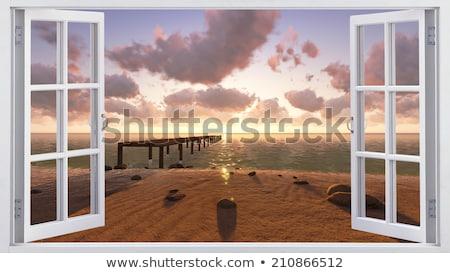 edifício · deserto · ilustração · casa - foto stock © bluering