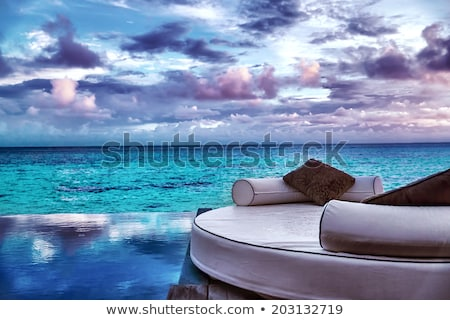 Maldives scene with gorgeous water/cloudscape stock photo © luissantos84