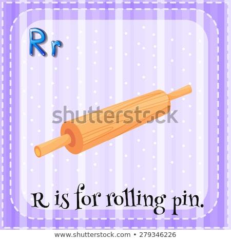 Lettera r mattarello illustrazione ragazzi bambino sfondo Foto d'archivio © bluering