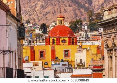 バシリカ 寺 メキシコ 祭壇 ステンドグラス 完成した ストックフォト © billperry