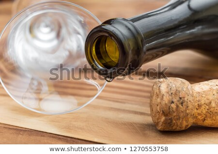 ボトル シャンパン 空っぽ 眼鏡 ドリンク 金 ストックフォト © Panaceadoll