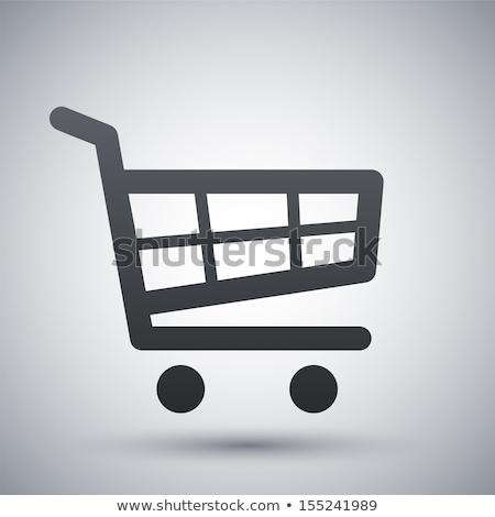 Winkelwagen clipart afbeelding winkel geschenk aanwezig Stockfoto © vectorworks51