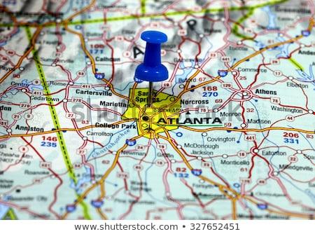 Атланте · город · Pin · карта · дороги · мира - Сток-фото © alex_grichenko