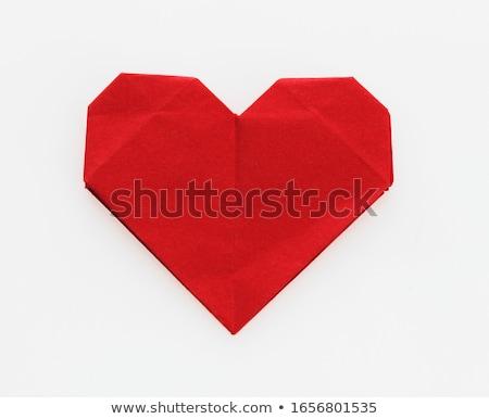 Kalp şekli kâğıt doku valentine gün kalp Stok fotoğraf © auimeesri