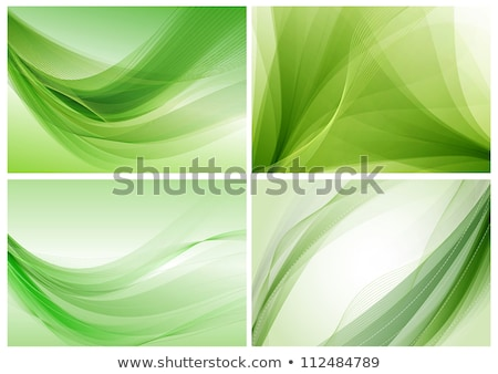 background with green wavy abstract artwork Stock photo © SArts