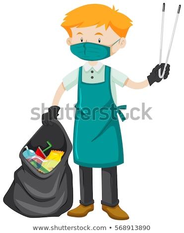 Limpador correia ilustração homem fundo arte Foto stock © bluering