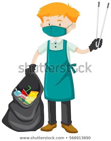 Schonere thong illustratie man achtergrond kunst Stockfoto © bluering