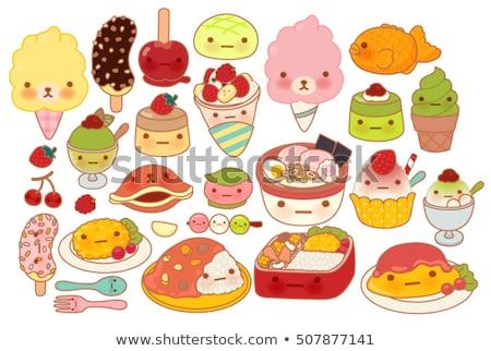 クレープ アイコン デザイン 愛 心臓の形態 食品 ストックフォト © sdCrea