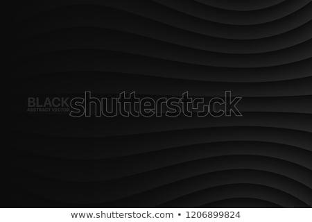Minimalny ciemne czarny falisty linie tle Zdjęcia stock © SArts