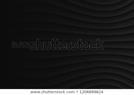 minimal suble dark black background with wavy lines stock photo © sarts
