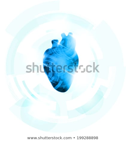 Abstract human heart of gears and molecules at the background, d Stock photo © Tefi