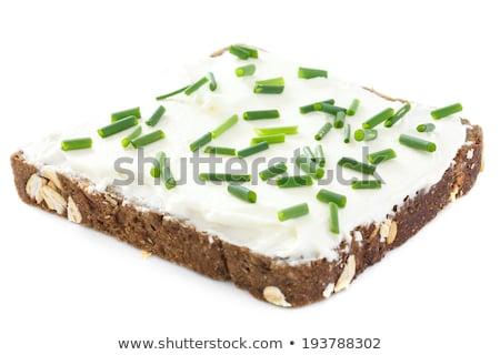Torrado pão cebolinha pão branco fatias Foto stock © Digifoodstock