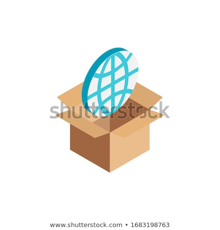 Terre boîte bureau carte technologie Photo stock © ordogz