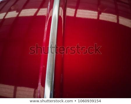 Auto Kontur Kirsche rot abstrakten Abteilung Stock foto © albund