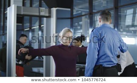 Foto stock: Pasajeros · aeropuerto · seguridad · comprobar · mujer · vacaciones