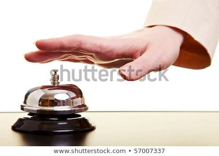 Femme d'affaires hôtel réception cloche chaud rétro Photo stock © stevanovicigor