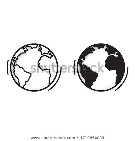 Monde vecteur ligne Voyage illustration Photo stock © Decorwithme