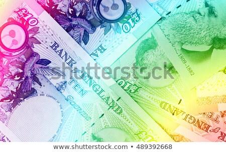 фунт валюта 10 радуга деньги Сток-фото © michaklootwijk