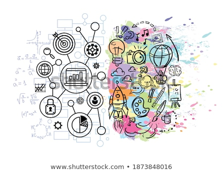 colourful lightbulb with charts business graphics drawings stock photo © wavebreak_media
