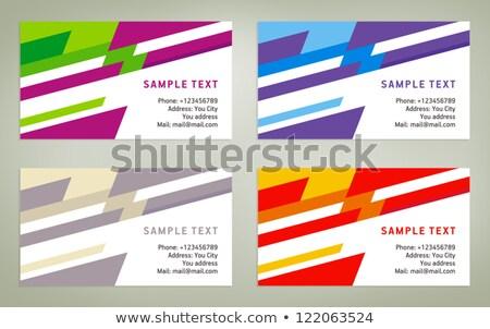 Blau Briefkopf Design geometrischen Zeilen Business Stock foto © SArts