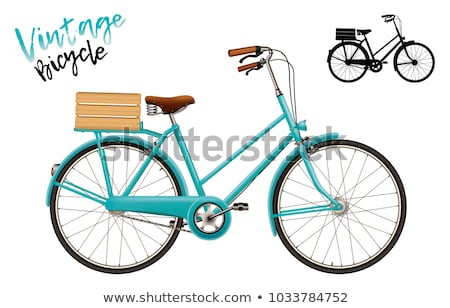 vélo · rétro · illustration · vecteur · design · fond - photo stock © nikodzhi