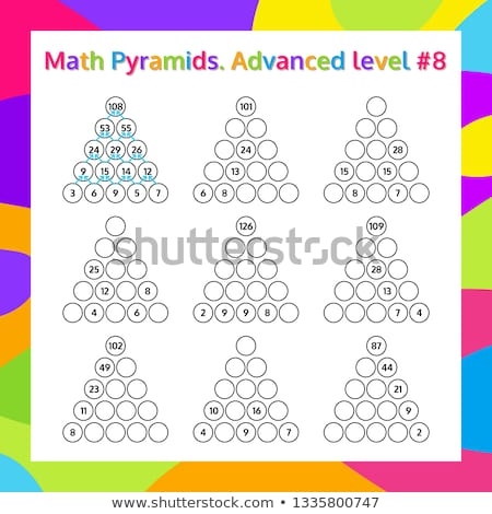 Addition tables with geometric shapes in background Stock photo © bluering