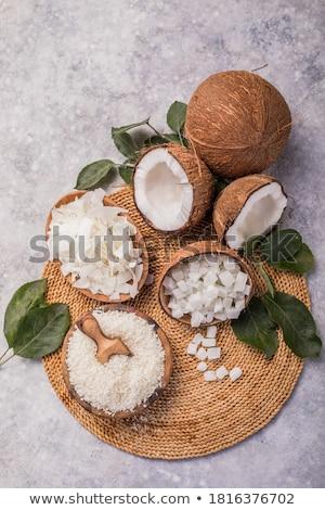 Séché coco viande alimentaire écrou bol Photo stock © Digifoodstock