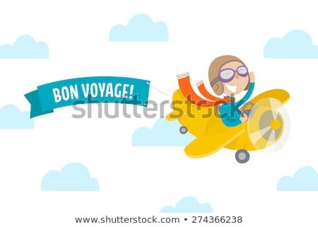Bon voyage aviation background Stock photo © studiostoks