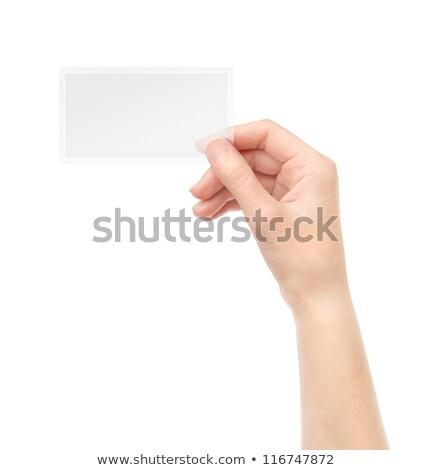 стороны прозрачный стекла человеческая рука черный место Сток-фото © artjazz