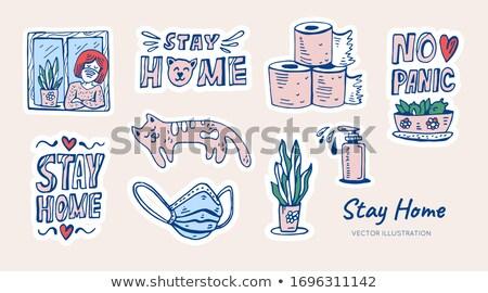 éduquer vous-même doodle design icônes Photo stock © tashatuvango