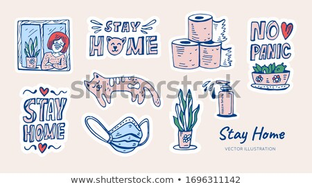 Oktat magad firka terv ikonok felirat Stock fotó © tashatuvango
