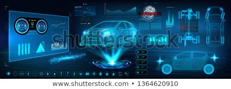Sport auto silhouet stralen icon racing Stockfoto © Olena