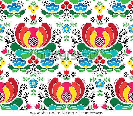 ノルウェーの 芸術 ベクトル スタイル 刺繍 ストックフォト © RedKoala