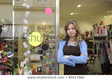 Portrait of a shop clerk Stock photo © IS2