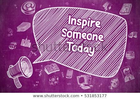 Success Advice - Doodle Illustration on Purple Chalkboard. Stock photo © tashatuvango