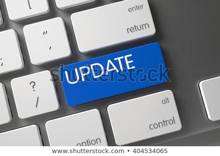 клавиатура синий обновление 3D Сток-фото © tashatuvango