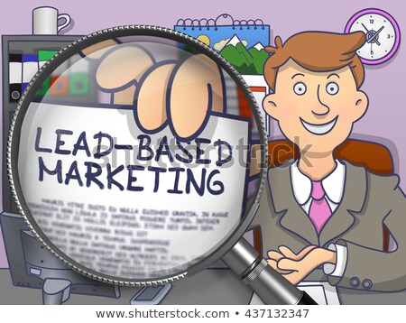 lead based marketing through magnifier doodle style stock photo © tashatuvango