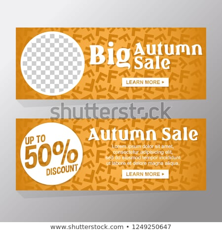Sale poster or Flyer design with gifts. Discount background for the online store, shop, promotional  Stock photo © Leo_Edition