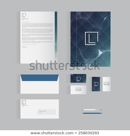 Moderna limpio negocios papelería establecer marca Foto stock © SArts