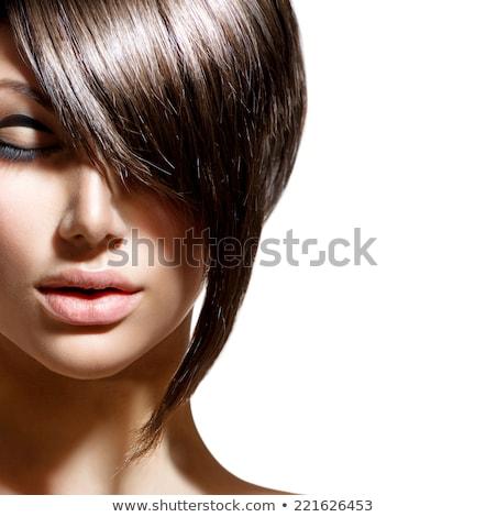 здоровья красоту гламур модный женщину темные волосы Сток-фото © deandrobot