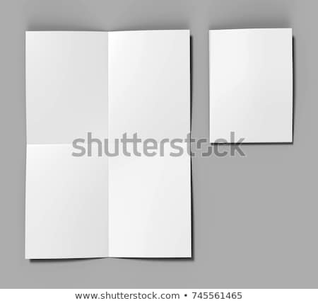 folding paper presentation mockup design Stock photo © SArts