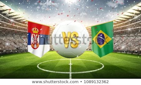 Servië voetbal voetbal bal stadion 3D Stockfoto © Wetzkaz