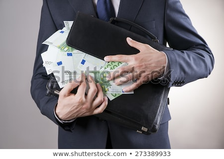 European businessman holds suitcase with money Stock photo © studioworkstock