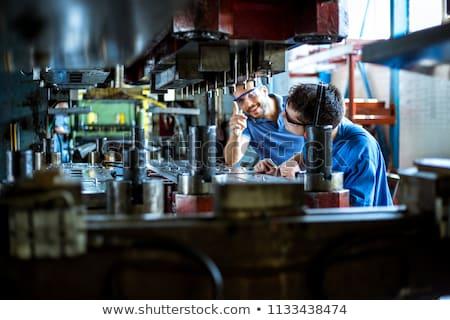 Eski hidrolik basın Metal fabrika Stok fotoğraf © vilevi