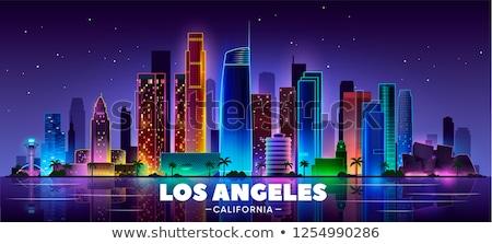linha · do · horizonte · Los · Angeles · detalhado · ilustração · Califórnia · negócio - foto stock © blamb