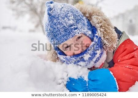 портрет сани снега зима мальчика Сток-фото © IS2