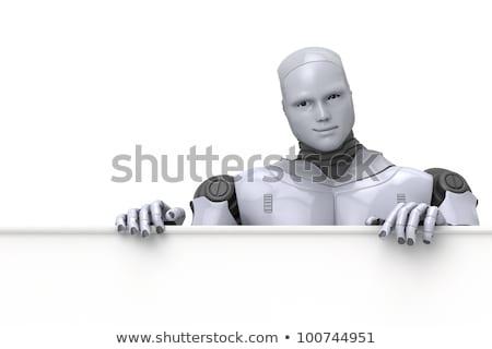 juguete · mecánico · robot · llave · blanco - foto stock © texelart