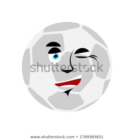 футбольным мячом футбола мяча счастливым эмоций Аватара Сток-фото © popaukropa