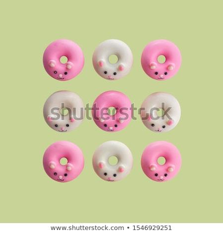 Klein donuts glutenvrij koffie houten Stockfoto © Melnyk