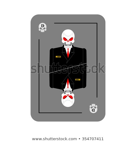 Playing card death. Skeleton in business suit. New concept of pl Stock photo © popaukropa